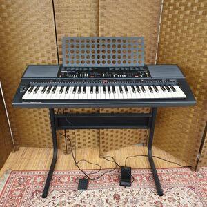 ◆中古 YAMAHA ヤマハ 電子キーボード 脚/イス付 PSR-400 61鍵盤 シンセサイザー ブラック 電子ピアノ 鍵盤楽器 ム-74