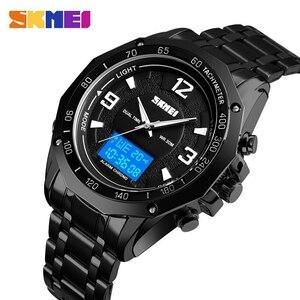 【!】SKMEI ファッションスポーツ腕時計メンズ時計デジタルクオーツ腕時計デュアルディスプレイ腕時計防水発光レロジオ
