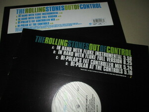 rolling stones / out of conrol (通常盤DJ盤4枚セット送料込み!!)