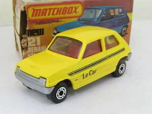 Matchbox Renault 5 LeCar ルノー サンク ルカー 箱付(傷み) イギリス製 1/55? ヨコ