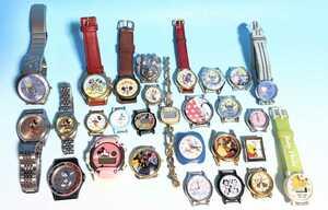 ディズニー腕時計 ミッキー ミニー ALBA Disney クォーツ JAL 美女と野獣 ティンカーベル FELIX スヌーピー 手巻き 自動巻 ジャンク