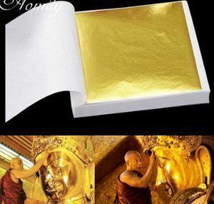 新品 B275金箔シート9*9cm100枚金メッキ装飾アクセサリー GX42