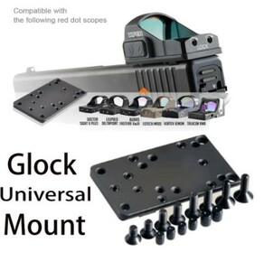 Leupold Burris Eotech Vortex Trijicon RMR Glockアクセサリー用ユニバーサルグロックレッドドットサイトマウントオプティクス