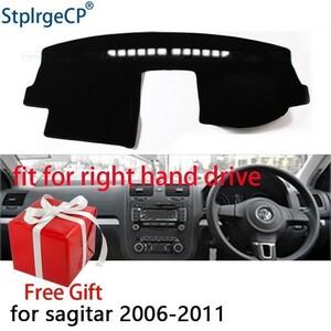 車のダッシュボードカバーマットフォルクスワーゲンゴルフ 5 MK5 2004-2008 右 Dashmat パッドダッシュマットカバーのダッシュボードアクセ