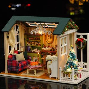 ドールもハウス ミニチュア diy 家具 木造住宅 おちゃ 子供 誕生日 ギフト クラフトセット ハンドメイド ケーキ