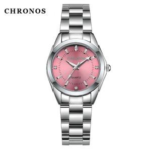 CHRONOS レディース 腕時計 新品 正規品 人気品 ピンク色 クォーツ ウォータープルーフ:日常生活防水 プレゼント