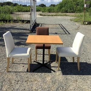 福岡発 テーブルセット テーブル1台 椅子3脚  中古品