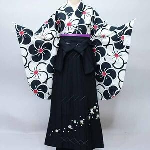 二尺袖 着物 袴 フルセット 着物生地は日本製 縫製と袴は海外 着物丈は着付けし易いショート丈 袴変更可能 新品(株)安田屋 NO35481