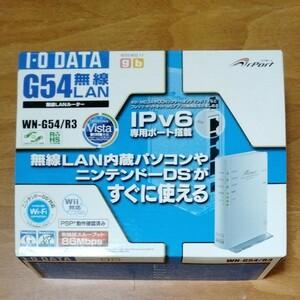 IO DATA 無線LANルーター WN-G54/R3