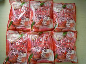 訳あり特価【リボン 果汁100%ピュアフル蒟蒻スティックゼリー ピーチ味 6袋 定価1166円】賞味期限2022/1