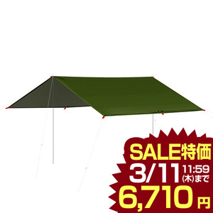 好評 タープ テント 435 x 500cm タープテント レクタタープ レクタ ヘキサ 7