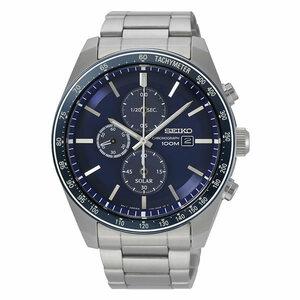 【逆輸入SEIKO】セイコー海外モデル セイコーソーラー腕時計 メンズ腕時計 3針アナログクォーツ 10気圧防水 ソーラークロノグラフ SSC719P1
