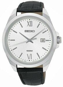 【逆輸入SEIKO】セイコー海外モデル セイコー逆輸入 アナログクォーツ 3針デイトカレンダーメンズ腕時計 10気圧防水 革ベルト SUR283P1