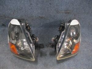 H18 アイ CBA-HA1W 左右ヘッドライト HIDASSY アイラインパネル付