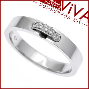 ショーメ リアン エヴィダンス ダイヤモンド リング 指輪 081685 Pt950 プラチナ 7号 美品 研磨仕上げ済み ギャランティ小冊子あり
