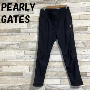 【人気】PEARLY GATES/パーリーゲイツ 中綿ゴルフパンツ マイクロ千鳥格子 ワンポイント刺繍 ネイビー サイズ6 レディース/A697