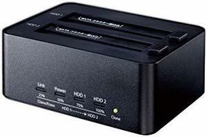 ブラック 玄人志向 SSD/HDDスタンド 2.5型&3.5型対応 USB3.0接続 PCレスでクローン/H