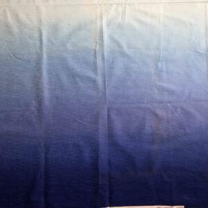 ブルー・グラデーションカットクロス(109×60センチ)