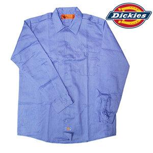 ディッキーズ LL536 LB【ライトブルー】【Lサイズ】汚れを落としやすい! ステインリリース仕上げのワークシャツ!■アウトレット■