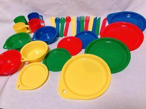 レジャーセット おままごと キャンプ アウトドア プラスティック食器