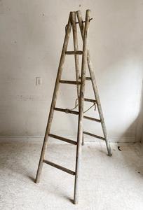 フランスアンティークラスティックオークラダーアトリエカフェアパレルインテリアコーディネート店舗什器内装建築空間ショップデザイン梯子