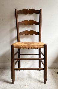 フランスアンティークオークラッシュシートチェアーアトリエカフェアパレルインテリア店舗什器内装建築空間ショップデザイン古道具食卓椅子