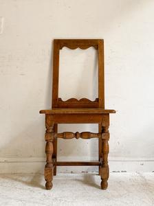 フランスアンティークオークチェアー1/アトリエカフェアパレルインテリアコーディネート店舗什器内装建築空間ショップデザイン古道具椅子