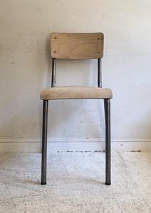 フランスヴィンテージポリッシュドスクールチェアー3/アトリエカフェアパレルインテリア店舗什器内装建築空間ショップデザイン古道具椅子