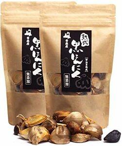 2パック(約2カ月分) 【お徳用】日本一と名高い ホワイト六片の熟成黒にんにく 青森県産 宇治茶発酵 無添加 バラタイプ 2パッ