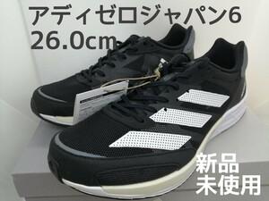 【新品・未使用】アディダス メンズ アディゼロジャパン6 26.0センチ 2E ランニングシューズ スニーカー adidas