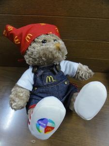 2004年 マクドナルド i'm lovin' it BEAR DENIM ぬいぐるみ McDonald's オーバーオールベア