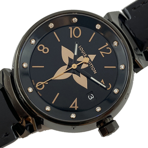 ルイ・ヴィトン LOUIS VUITTON タンブール QA048Z クオーツ レディース 腕時計 中古