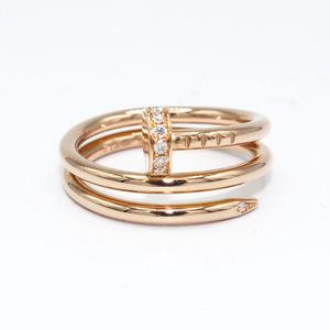 カルティエ Cartier ジュストアンクル リング 指輪 K18PG ダイヤモンド レディース ジュエリー 中古