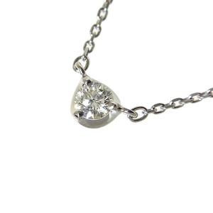 ヨンドシー 4℃ プチダイヤモンド ネックレス プラチナ レディース ジュエリー アクセサリー 中古