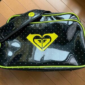 ROXY エナメル スポーツバッグ ショルダーバッグ ドット柄 ロキシー