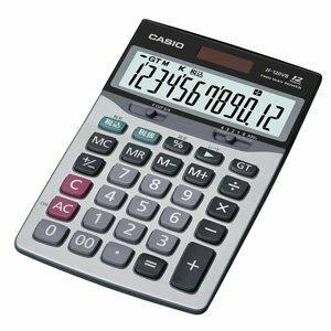 カシオ 卓上タイプ 12桁 電卓【ジャストサイズ】CASIO 本格実務電卓 JF-120VB-N