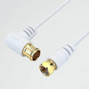 新品 未使用 極細アンテナケ-ブル HORIC L-F8 10m ホワイト BS/CS/地デジ/4K8K放送対応 F型差込式/ネジ式コネクタ