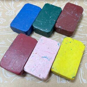 シュトックマー社 蜜ろうクレヨンブロック 6色セット ドイツ モンテッソーリ シュタイナー教育 蜜蝋クレヨンみつろうミツロウ