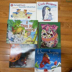英語の絵本6冊セットGuri and Gura's .The Little Penguin. A Troqical Bear. 他