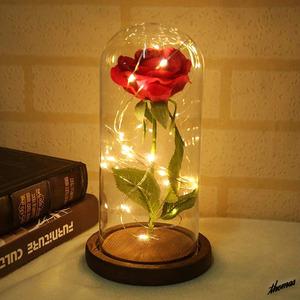 【まるで真実の薔薇のよう】 ローズ LED ナイトライト 美女と野獣 造花 薔薇 プレゼント 贈り物 記念日 サプライズ