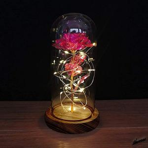 [ в подарок оптимальный ] искусственный цветок BOX имеется Night свет искусственный цветок роза подарок подарок память день sa приз Beauty and the Beast розовый
