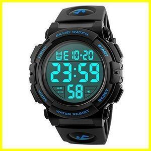新品 Timever(タイムエバー)デジタル腕時計 メンズ 防水腕時計 led watch スポーツウォッチ アラーTBS5