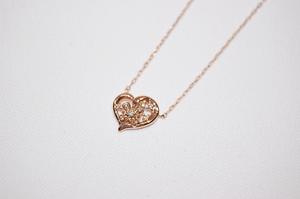 4℃ ヨンドシー K10 ピンクゴールド ダイヤモンド ハートモチーフ ネックレス 2016年クリスマス限定品