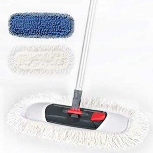 本体+2つクロス Cleanhome モップ 綿系 フロアモップ フローリング 回転モップ フロアワイパー 床掃除 フラットモ