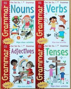 ワイプクリーン 文法ワークブック 4冊セット 英語文法 英語学習