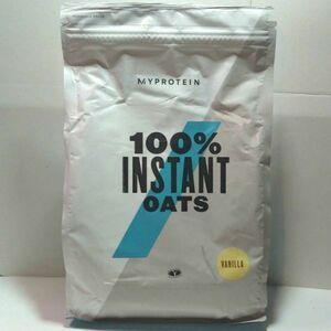 送料込み インスタント オーツ 2.5kg バニラ 味 新品 未開封 約25食分 マイプロテイン 粉末 オートミール