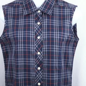 《郵送無料》■Ijinko◆美品◆バーバリー Burberry L サイズノースリーブシャツ
