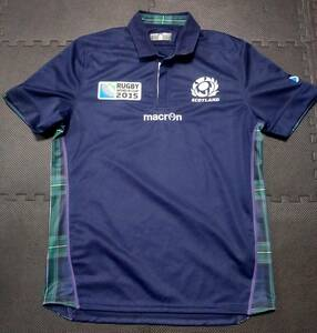 【海外L】マクロン ラグビースコットランド代表 ホームレプリカジャージ macron ワールドカップイングランド大会モデル RWC2015