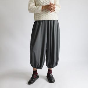 ■『裾ギャザーゆったりサーカス パンツ』85cm丈 シルクのような上質とろみ伸縮Tシャツ・カットソー素材K68B