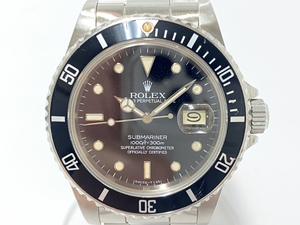 ROLEX ロレックス サブマリーナ デイト 16800 82番台 淵あり 黒文字盤 ヴィンテージ レア メンズ 腕時計 自動巻き 動作品 入手困難